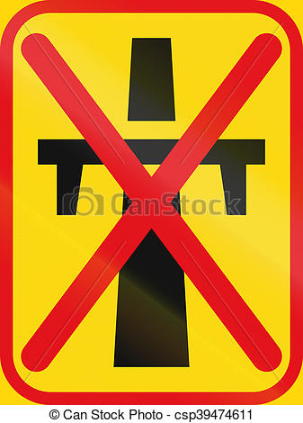 Clipart of Road sign used in the African country of Botswana.