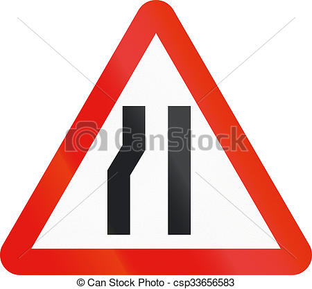 Stock Illustration of Road sign used in Spain.
