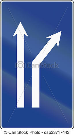 Drawing of Road sign used in Spain.