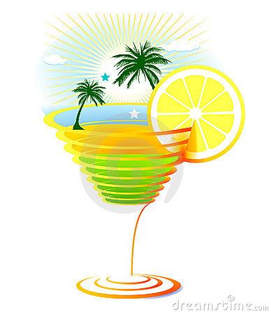 Caribbean Drink Stock Illustrations.