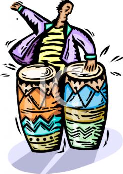 Caribbean Drum Clipart.
