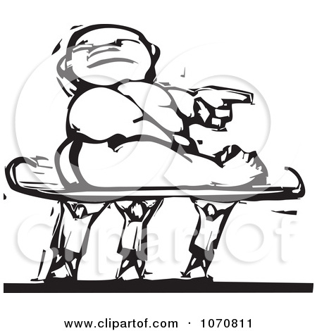 Clipart Woodcut Baby Being Carried On A Sled.