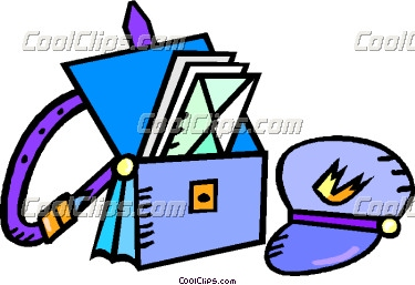 Mail Carrier Bag Clipart.
