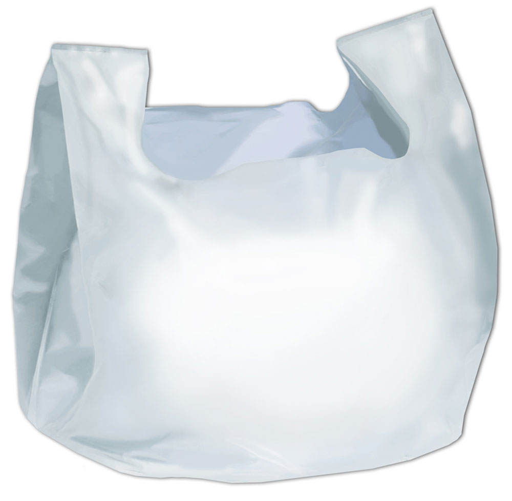 "Clear Plastic Tote Bags 20"" x 10"" x 28""."