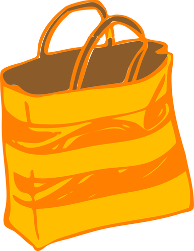 Carrier bag vector clip art.