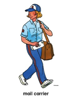 Mail carrier clip art.