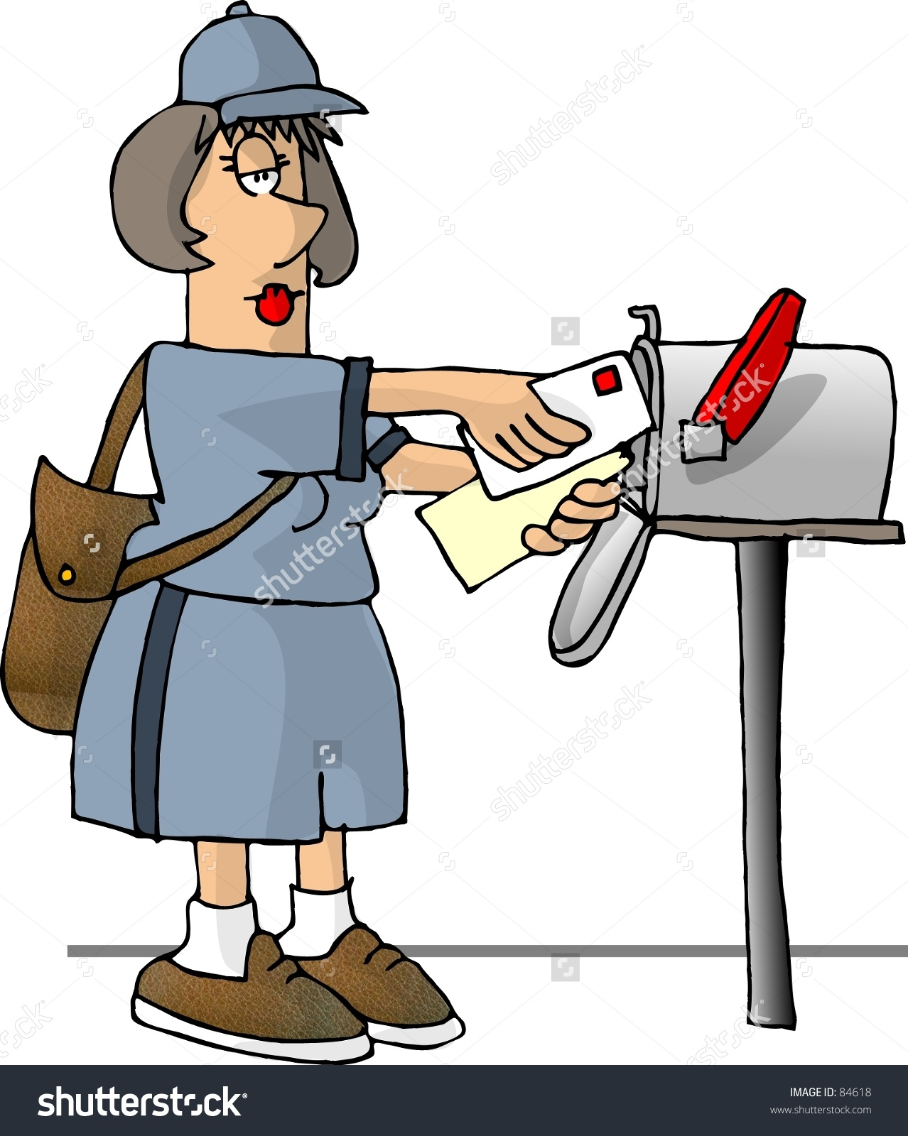 Clipart mail carrier.