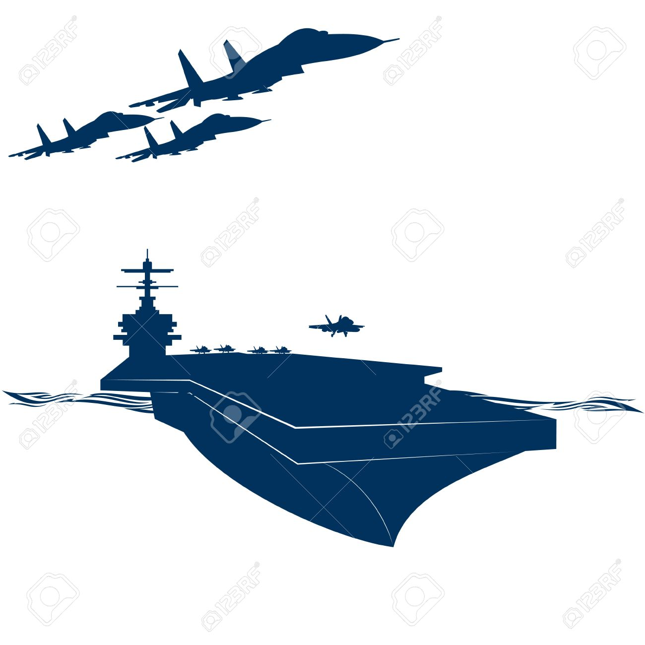 Military Aircraft Carrier Clip Art.