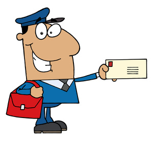 Free letter carrier clipart.