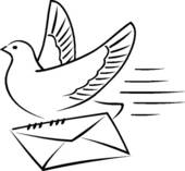 Carrier Pigeon Clip Art.