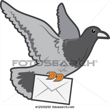 Carrier Pigeon Clipart.