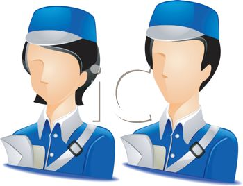 Royalty Free Clip Art Image: Occupation Avatar for Mail Carriers.
