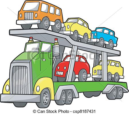 Car carriers clipart.