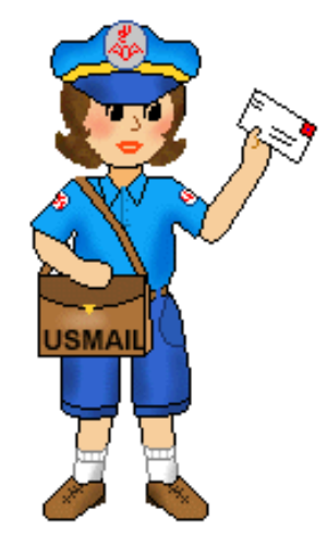 Mail Carrier Clipart.
