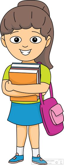 Book Clipart : student.