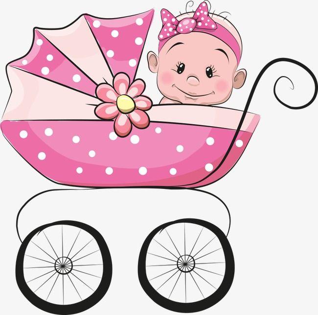 Carrinho De Bebê Do Vetor, Baby, Bebê Dos Desenhos Animados.