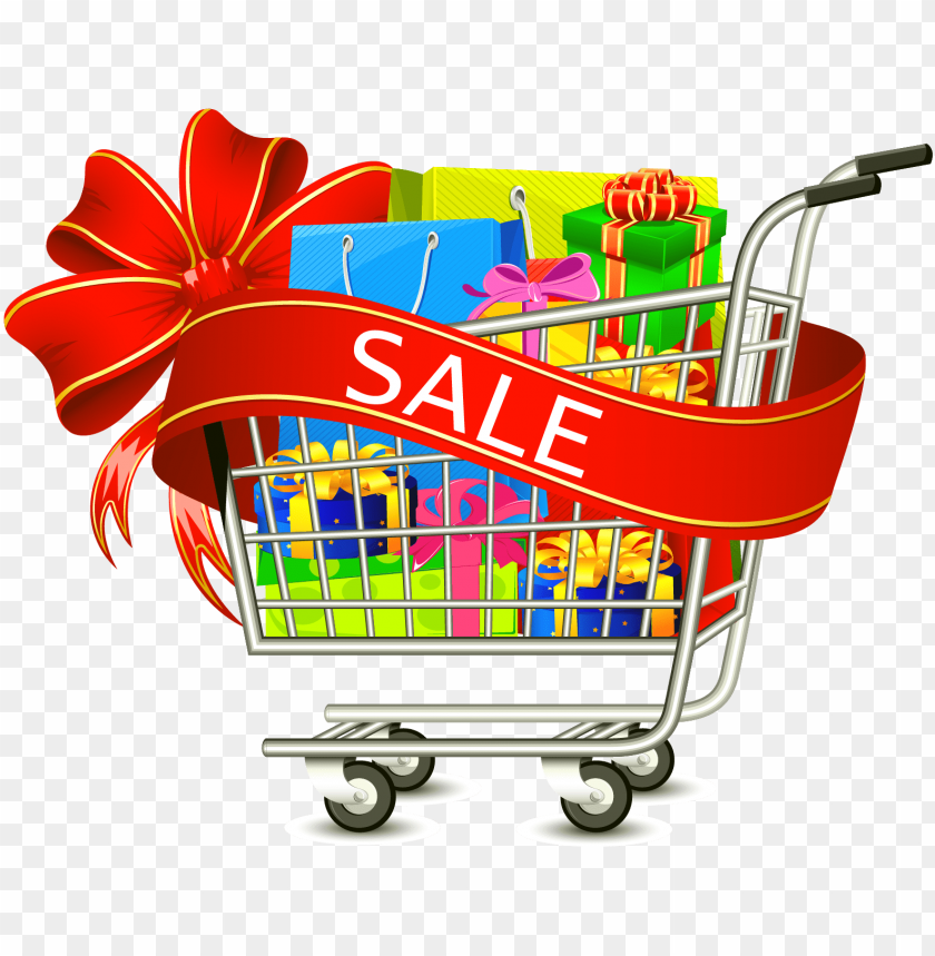 discount clipart shopping cart.