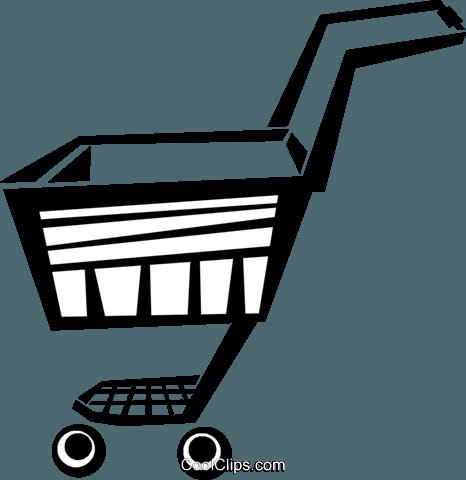 Carrinho de Compras livre de direitos Vetores Clip Art ilustração.