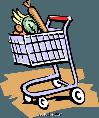 carrinho de supermercado livre de direitos Vetores Clip Art.