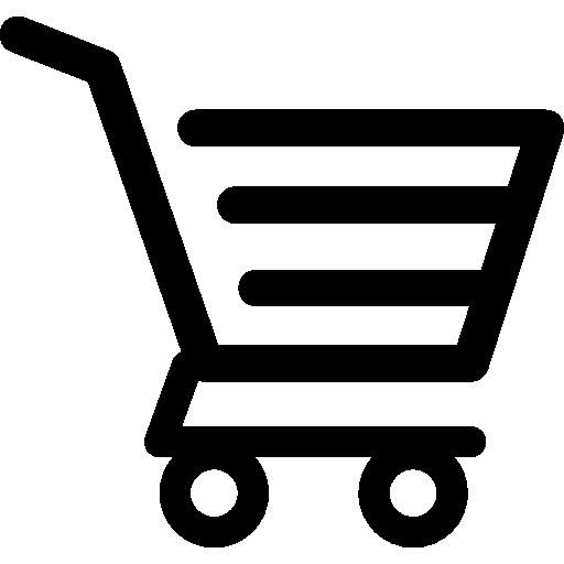 Carrinho de compras de design de linhas horizontais.