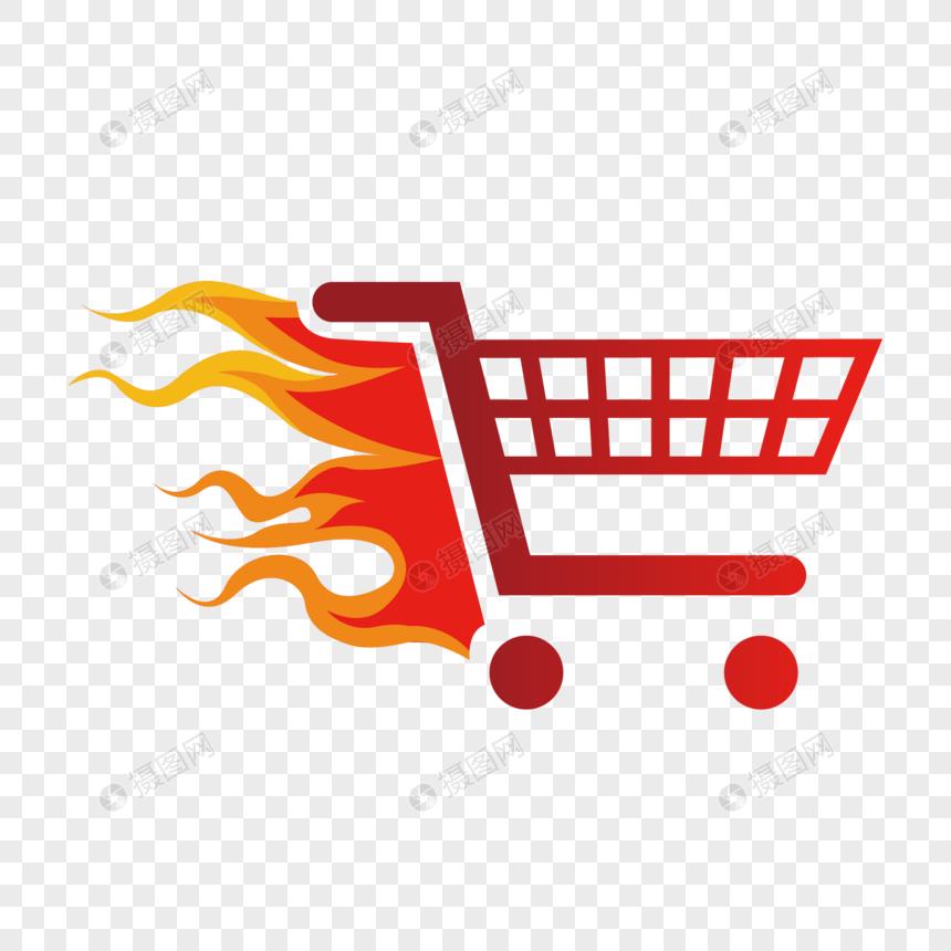 carrinho de compras criativo chama Imagem Grátis_Gráficos Número.
