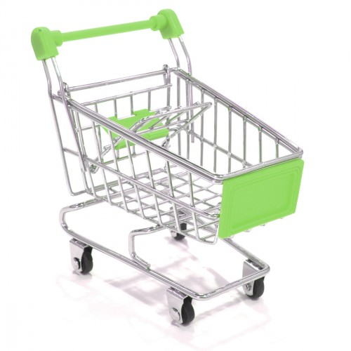 mini carrinho de supermercado.
