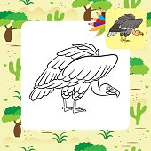 Carrion Eater Clip Art, Vector Carrion Eater.