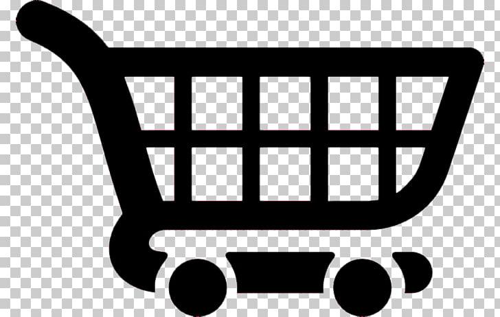 Carrito de compras negro, icono de carrito de compras PNG.