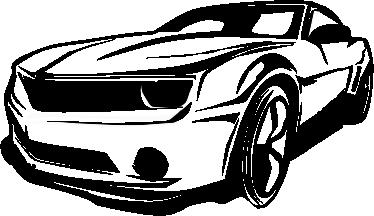 Carro Camaro Vector Limpio clip arts, free clip art.