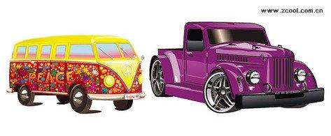Clipart e gráficos vetoriais de 2 carro lindo gratuitos.