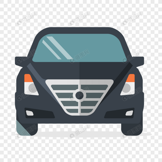 frente do carro dos desenhos animados Imagem Grátis_Gráficos Número.