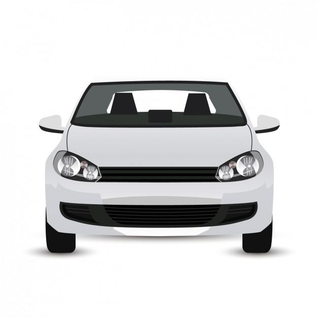 Gráfico do carro moderno branco.