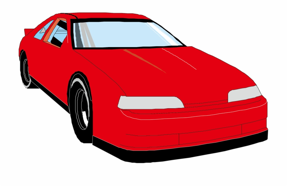 Red Cartoon Car.