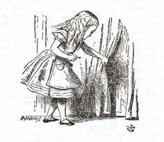 Lewis Carroll's Alice in Wonderland clip art..