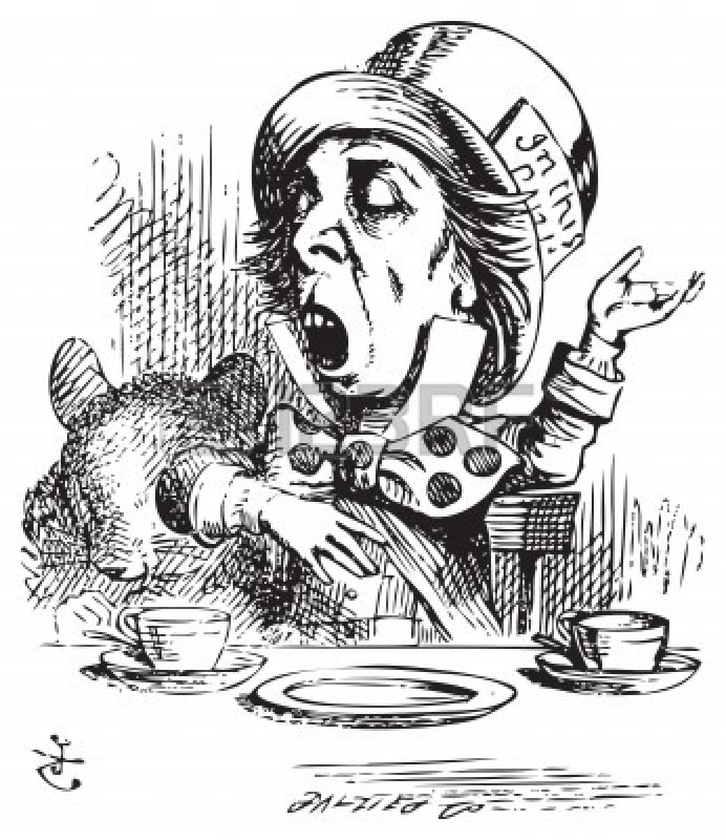 Mad Hatter Sketch Clipart.