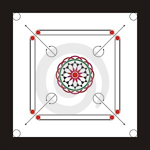 Carrom Board Design.