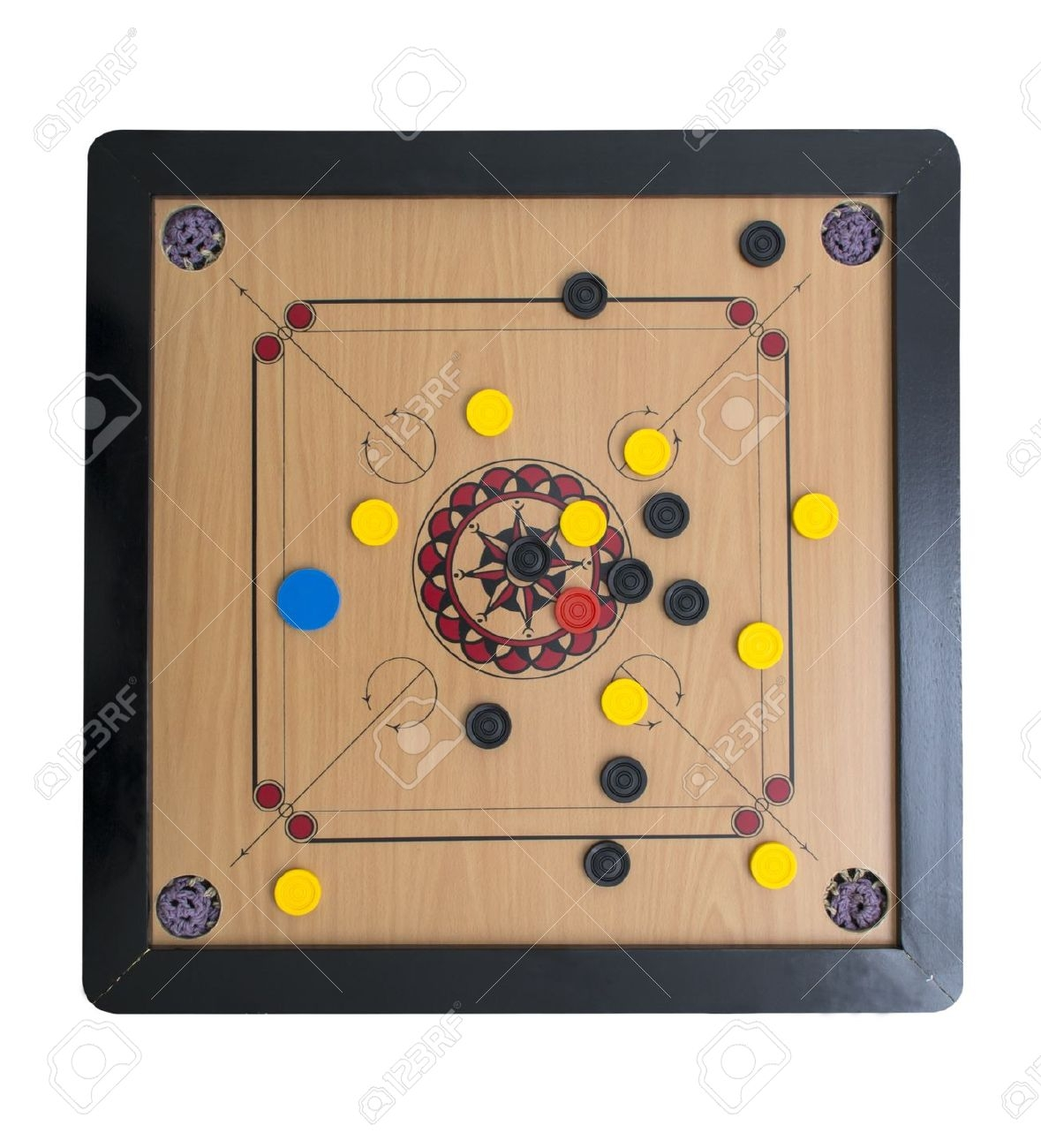 Carrom Board Game Clipart.
