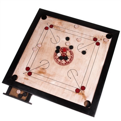 Carrom board.