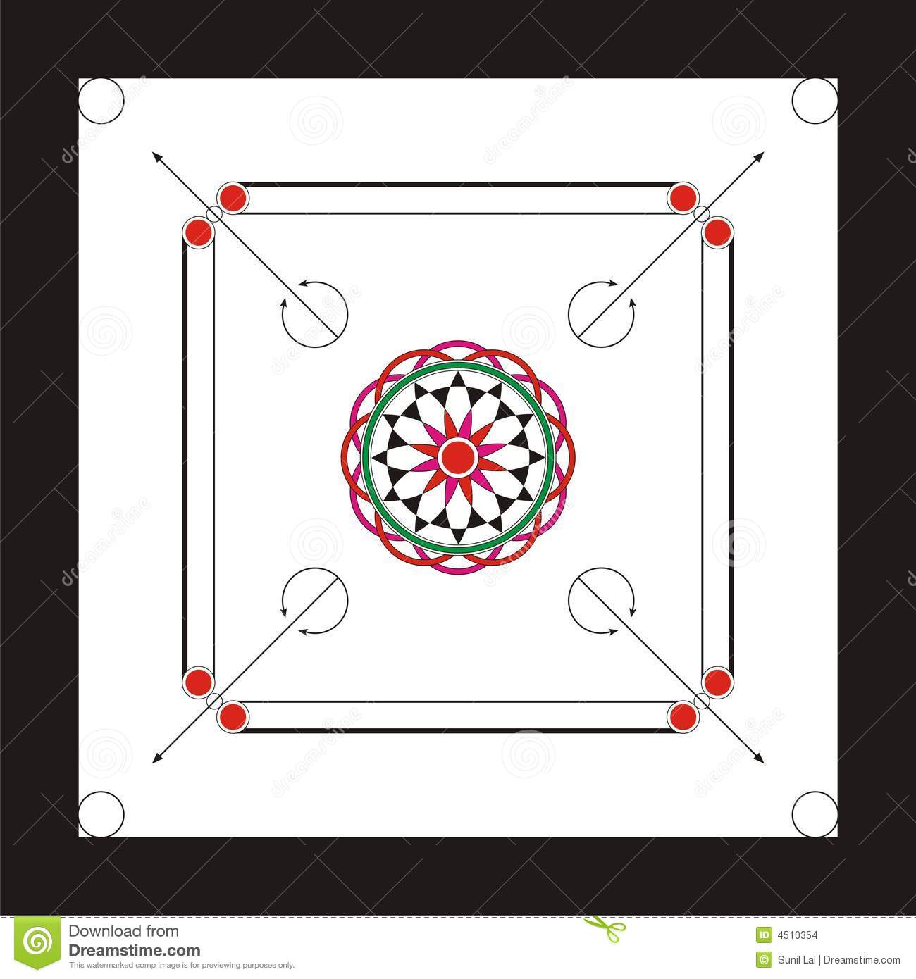 Carrom board clipart.