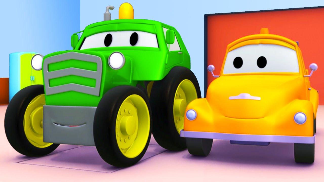 Tom o Caminhão de Reboque e o Trator na Cidade do Carro.