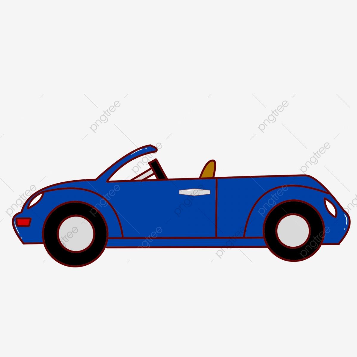 Coche Azul Coche Dibujado A Mano Coche De Dibujos Animados Hermoso.