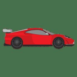 Desenhos animados de competição de carros de corrida.