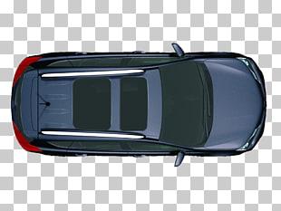 Coche, vista desde arriba, azul convertible coupe.