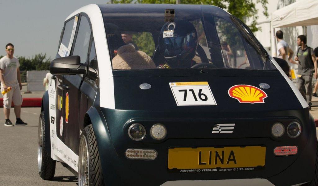 Lina, el carro sostenible creado a partir de plantas en Holanda.