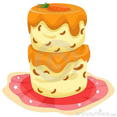 Carrot Cake Dessert Stock Illustrations.