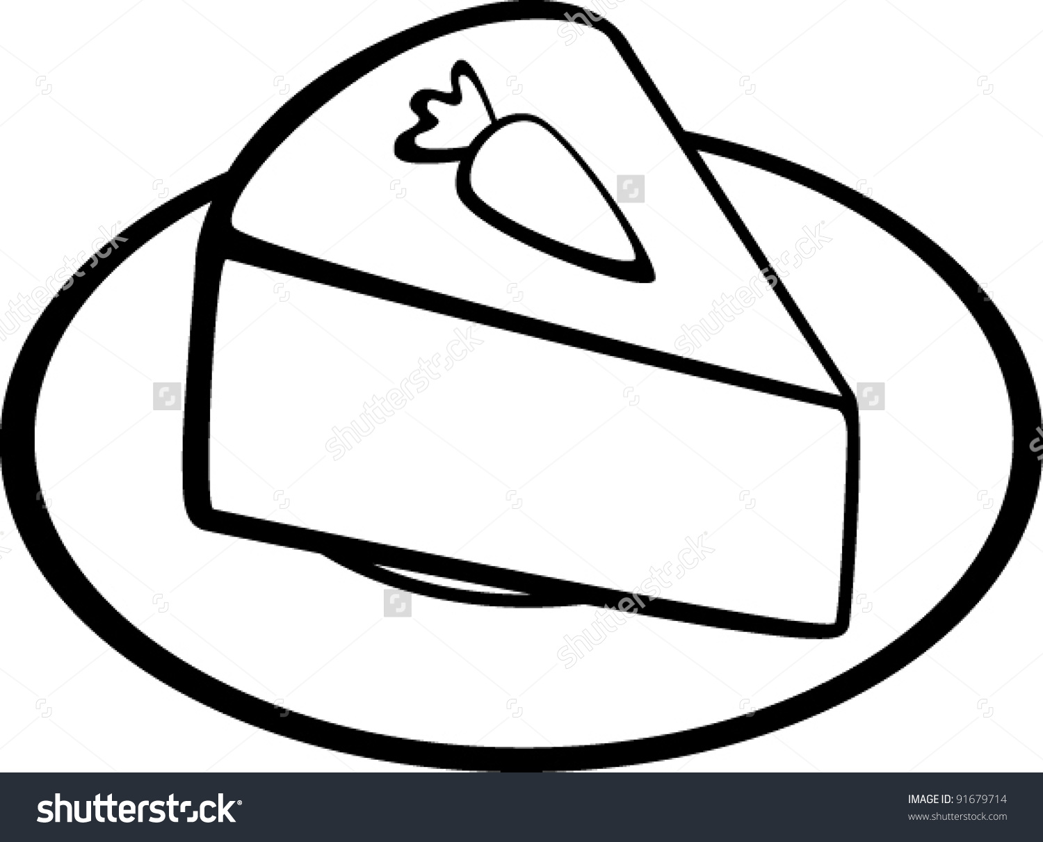 Carrot Cake Stock Vector 91679714.