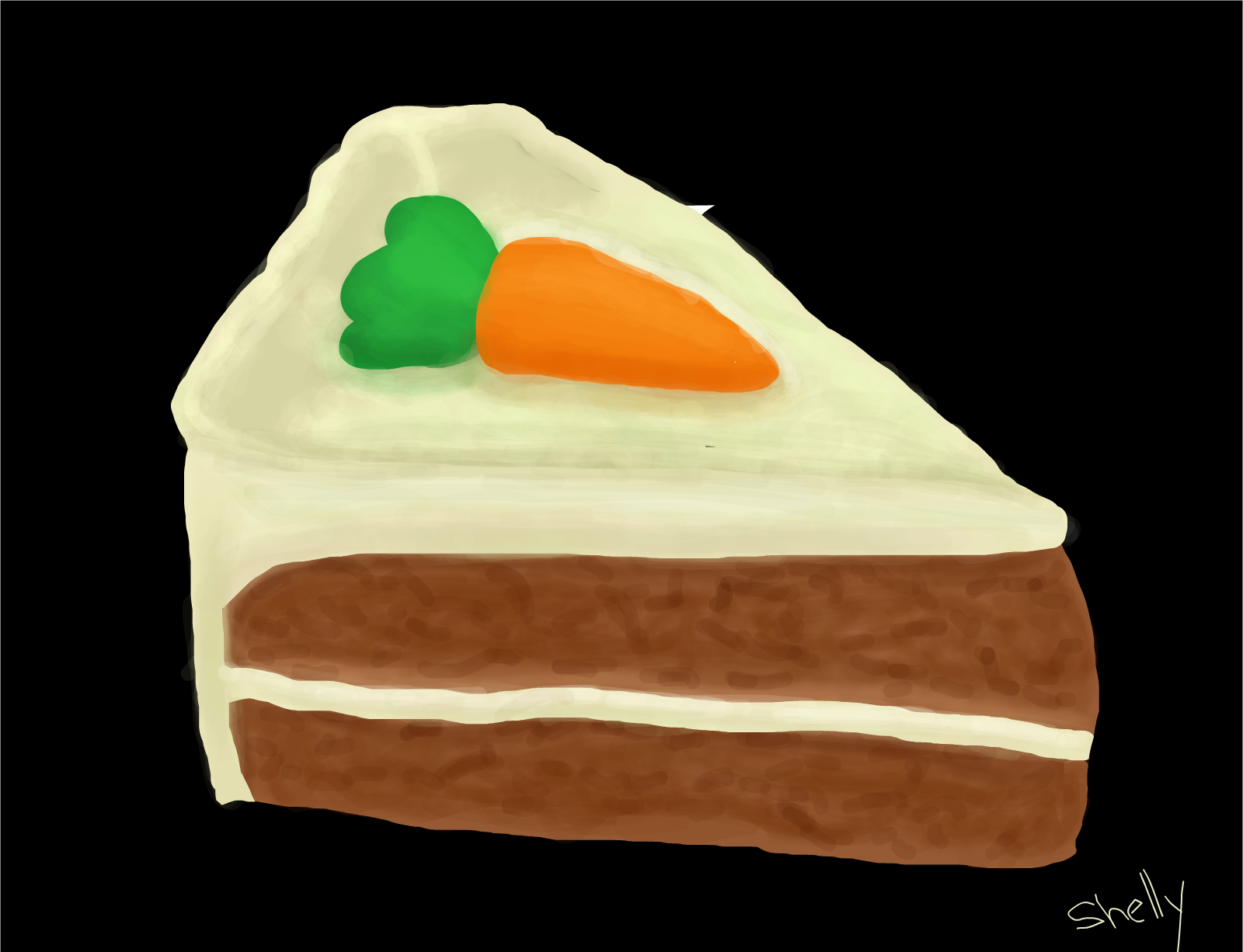Carrot cake drawing.
