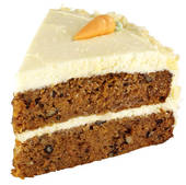 Stock Photography of Slice Of Carrot Cake On White u25786800.