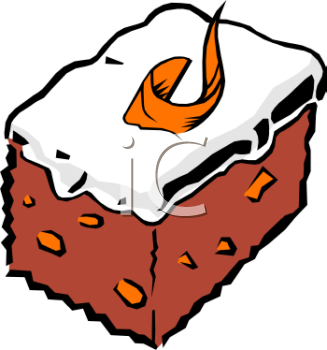 Clipart Picture Of A Piece Of Carrot Cake.