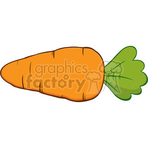 Royalty Free RF Clipart Illustration Cartoon Carrot clipart. Royalty.